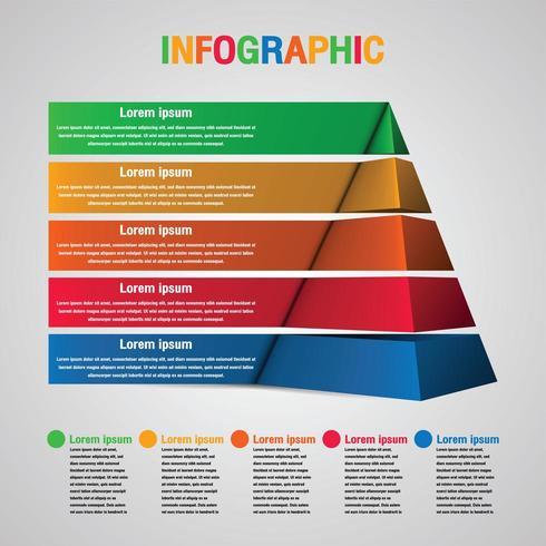 Infografía piramidal con 5 pasos