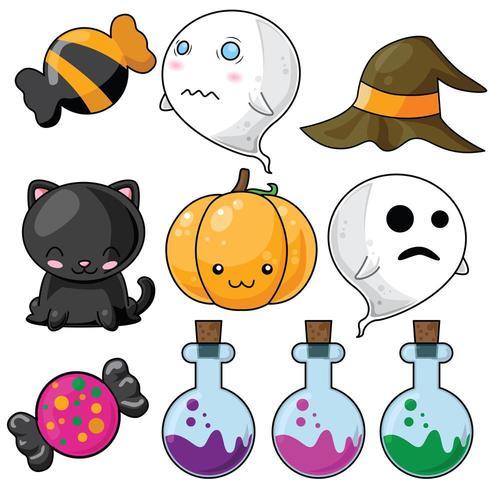 Nettes Halloween-Set