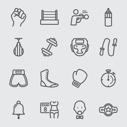 Boxning ikon