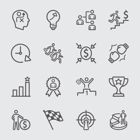 Icona della linea di concorrenza aziendale