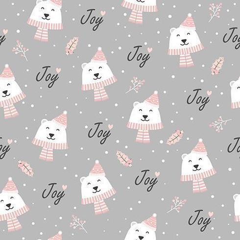 Kerst vreugde naadloze patroon met ijsbeer