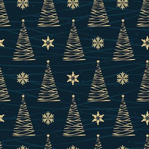 Modèle sans couture d'arbre de Noël