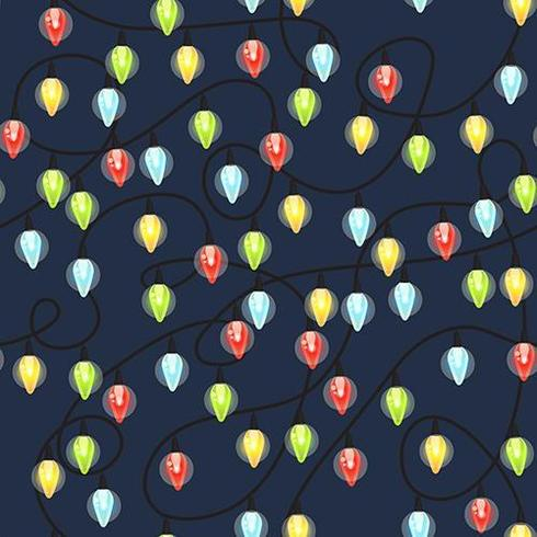 Christmas light bulbs seamless pattern