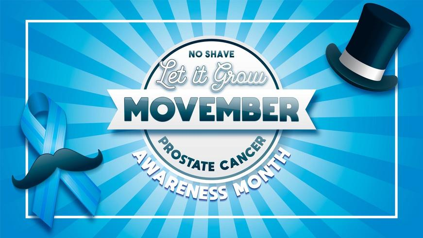 Movember prostate cancer awareness poster