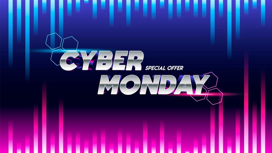 Cyber monday sale sign vector