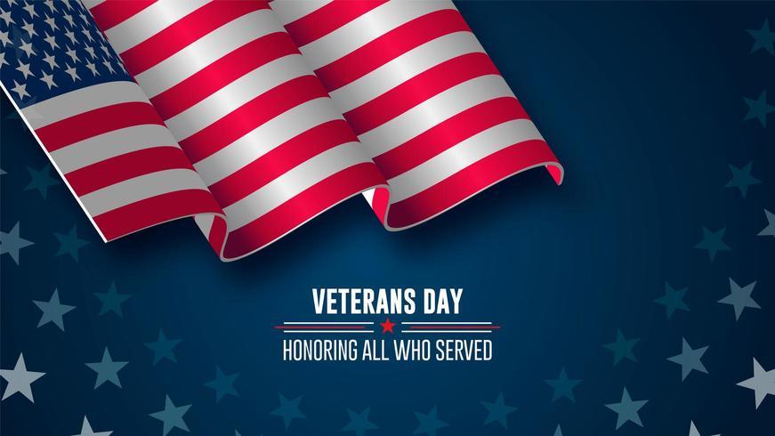 giorno di veterani sfondo vettore
