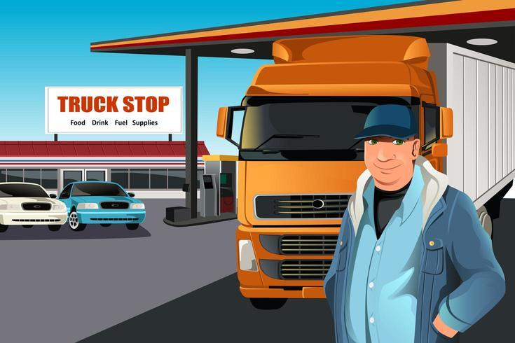 El conductor del camión