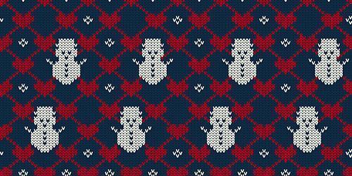 Achtergrond van het Kerstmis de naadloze gebreide patroon vector