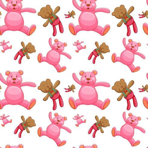 Fumetto senza cuciture delle mattonelle del modello con gli orsacchiotti