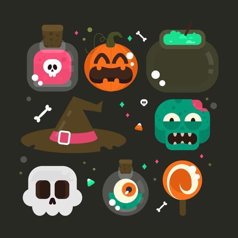 Halloween element samling