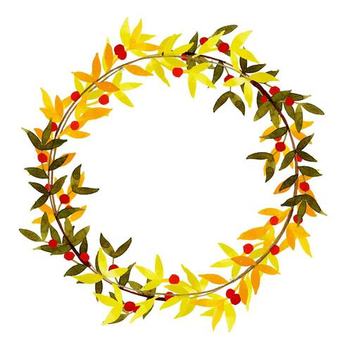 Bella cornice di foglie di autunno dell'acquerello