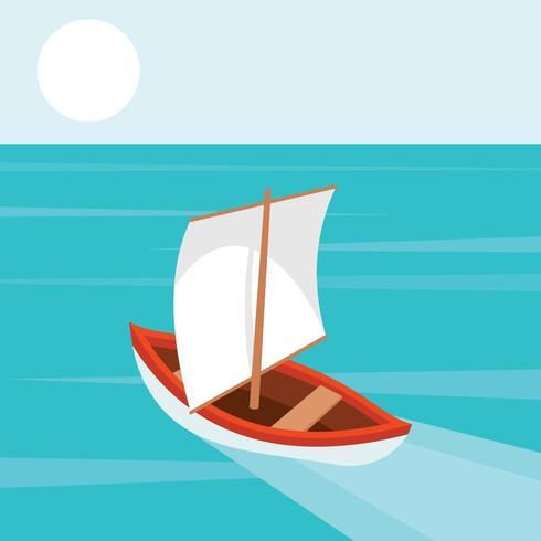 La barca sul mare