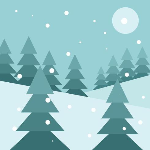 Winter And Snowy Mountain
