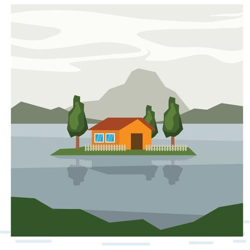 Una piccola isola sul lago