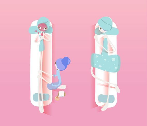 Massage and Spa Design Set vector
