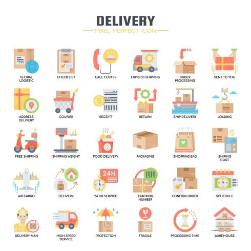 Delivery Flat Color Icons