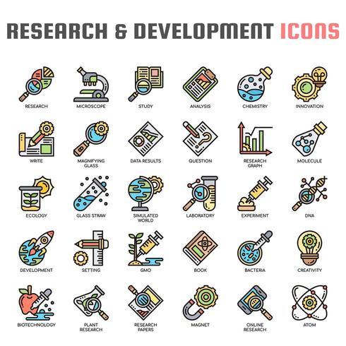 Recherche et développement Icônes Thin Line