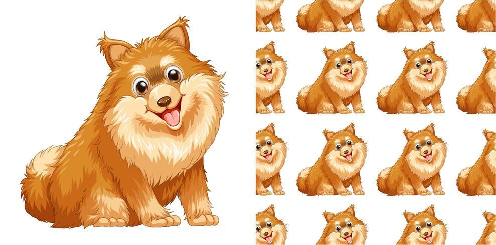 Caricature de modèle de chien sans soudure et isolé