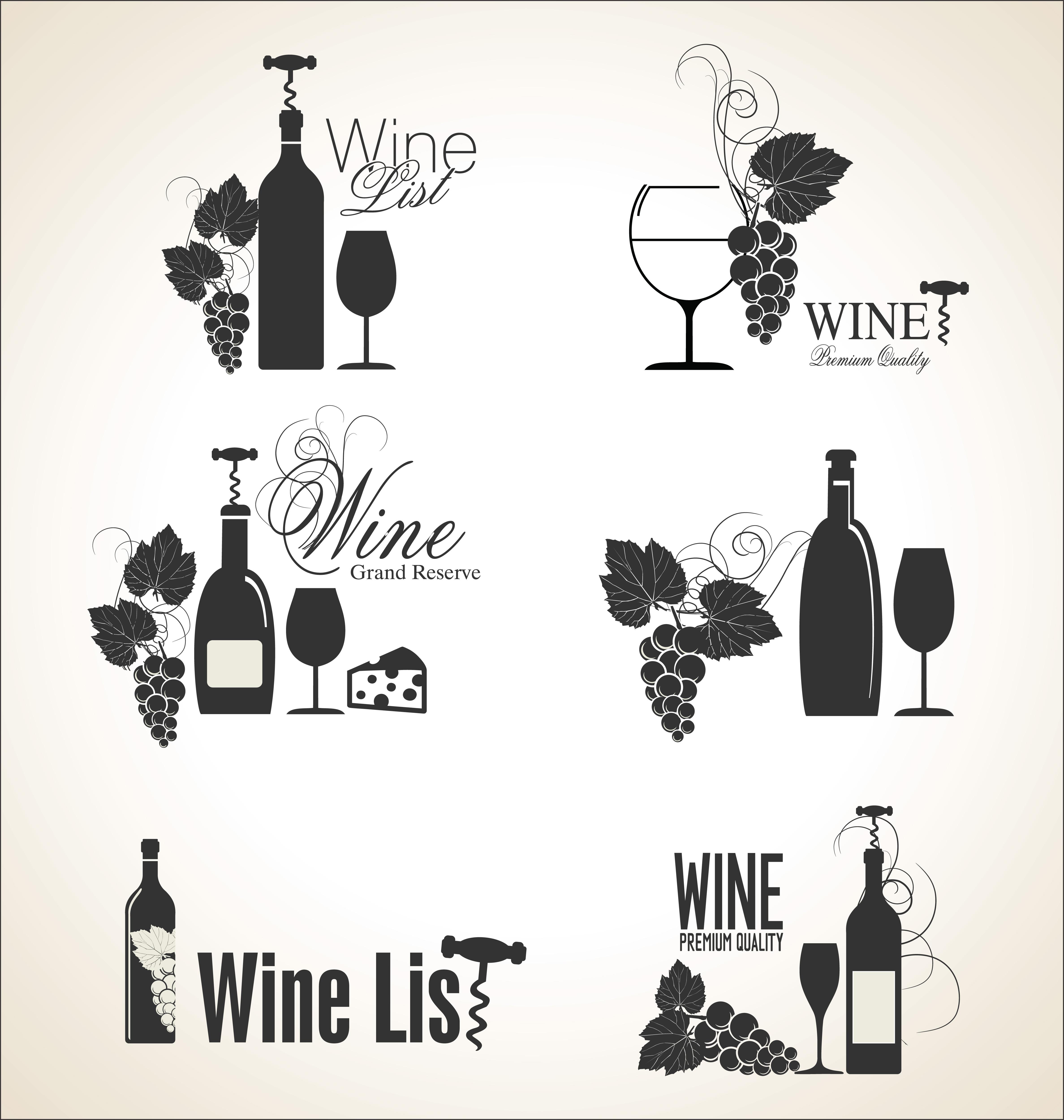 Elegant wine labels - Download Free Vectors, Clipart ...