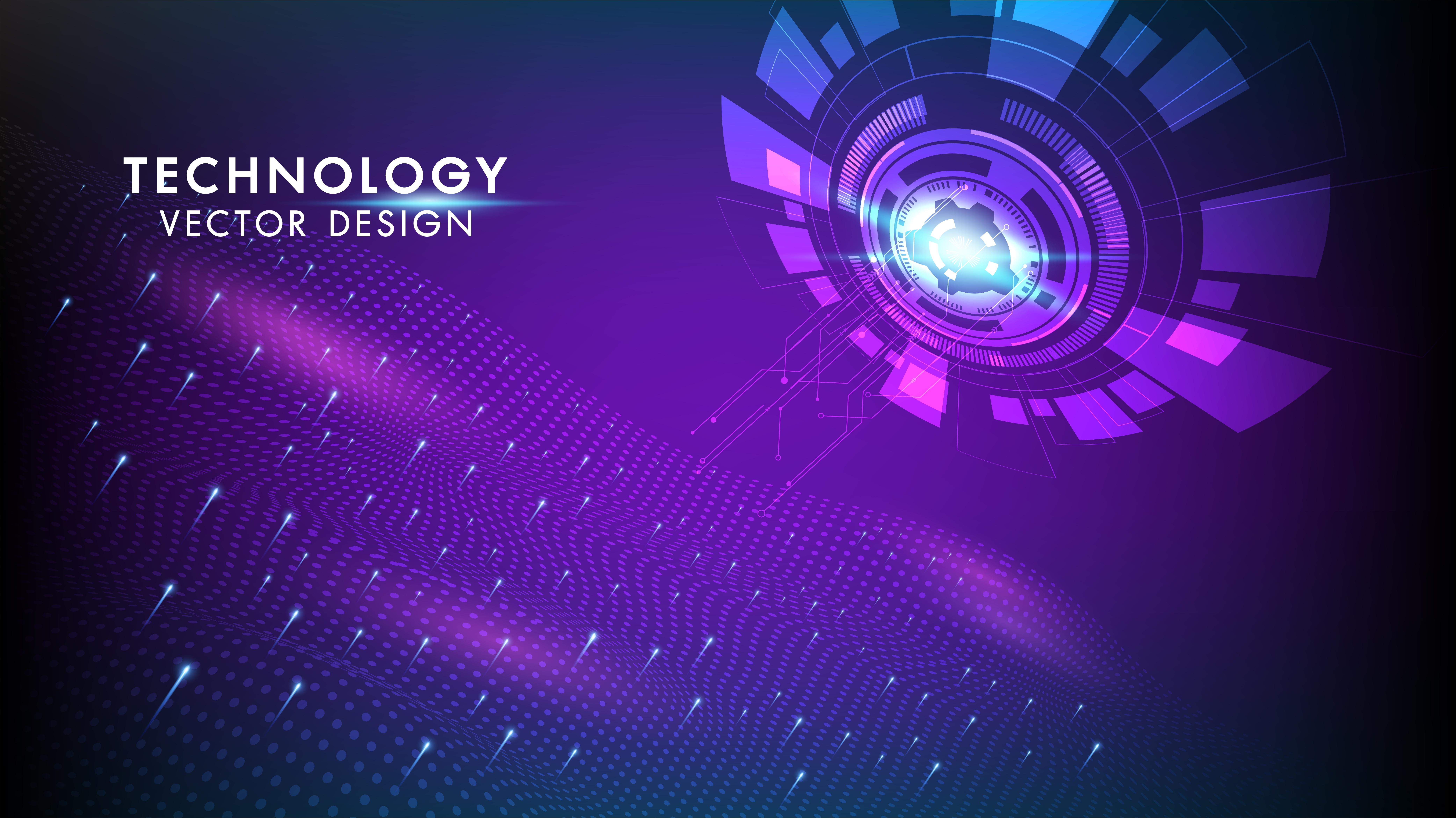 Technology background Hi-tech communication concept ...