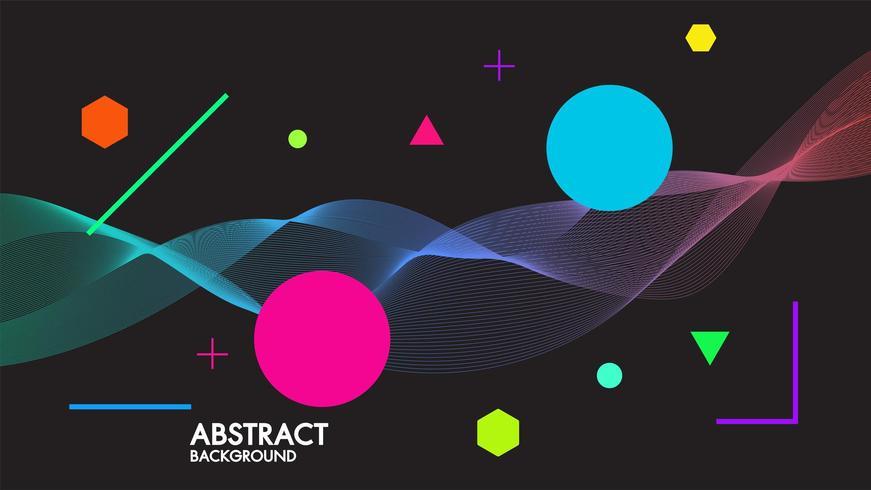Abstrait noir avec des vagues futuristes linéaires dynamiques