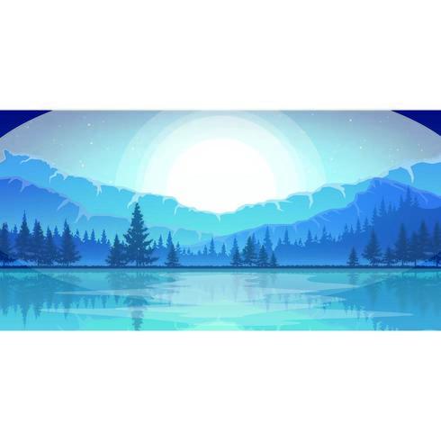 Lever de soleil bleu sur la jungle