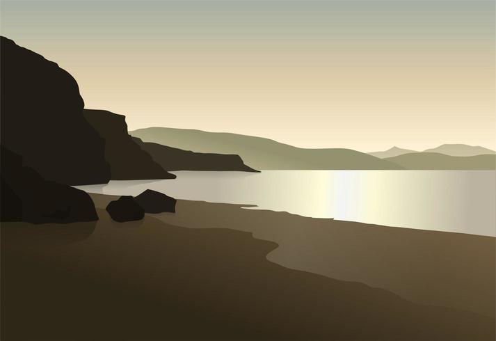Paisagem de praia calma