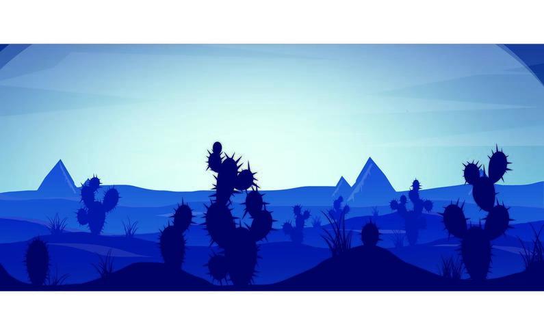 Coucher de soleil dans le désert bleu