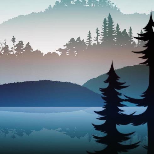 La jungle brumeuse et le lac