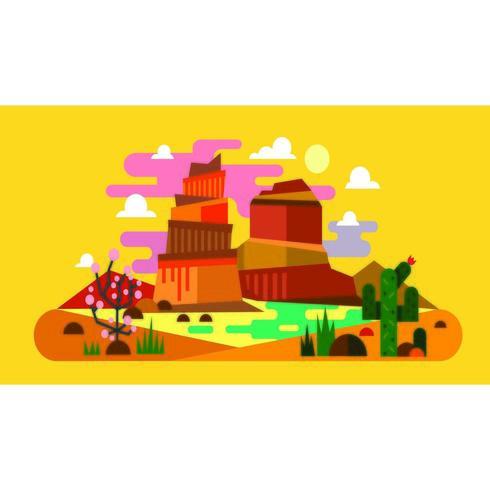 Scène de paysage de roches colorées