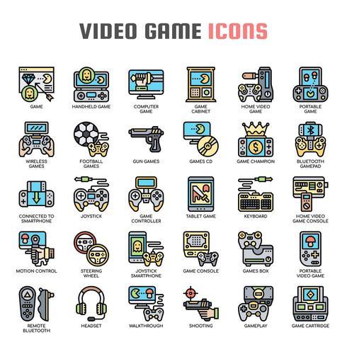 Tunnlinjeikoner för videospel