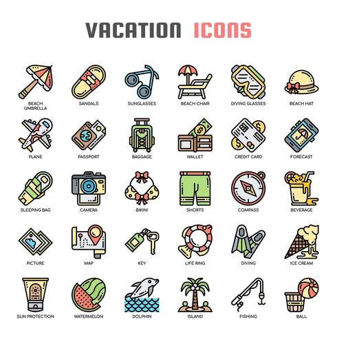 Vacances et Pixel Perfect Icons