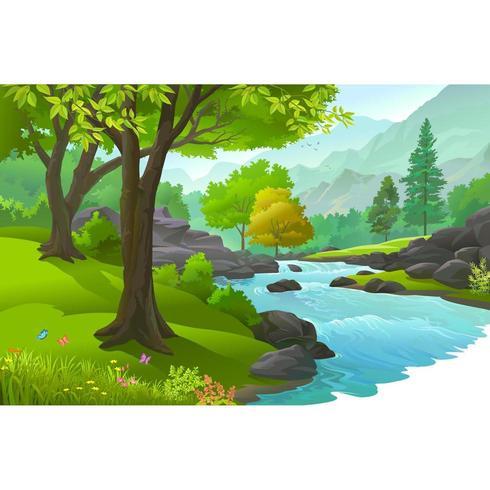 Rivière à travers forêt