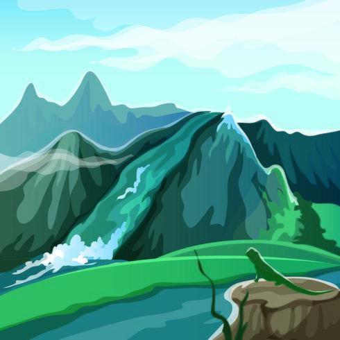 Cachoeira na montanha