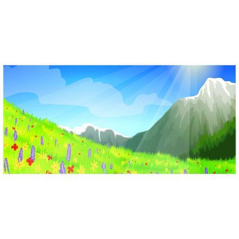 Raio de sol sobre as flores