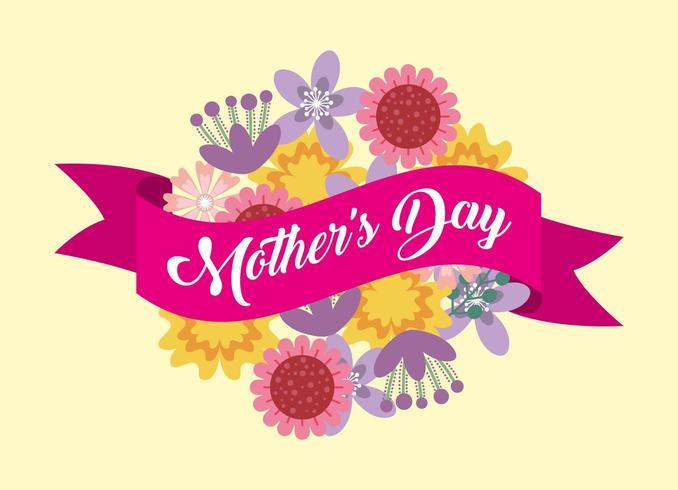 tarjeta del día de las madres vector