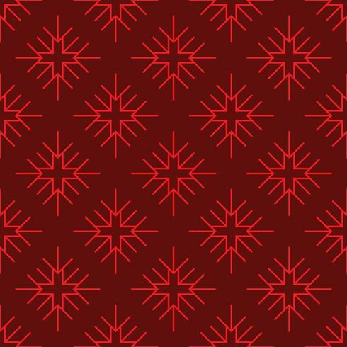 floco de neve geométrico vermelho padrão sem emenda