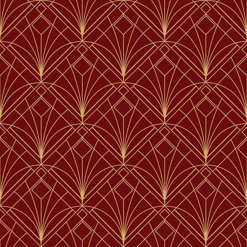 motif marron rouge géométrique simple sans couture art déco