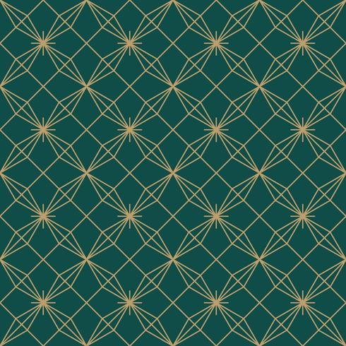 flower star simple seamless art deco pattern