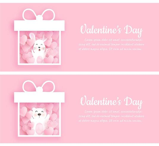 Set of Valentine's day banners.