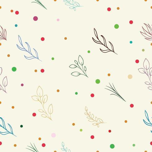 ilustrações vetoriais padrão floral sem costura suave