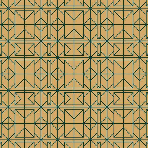 gold and green seamless geometric pattern