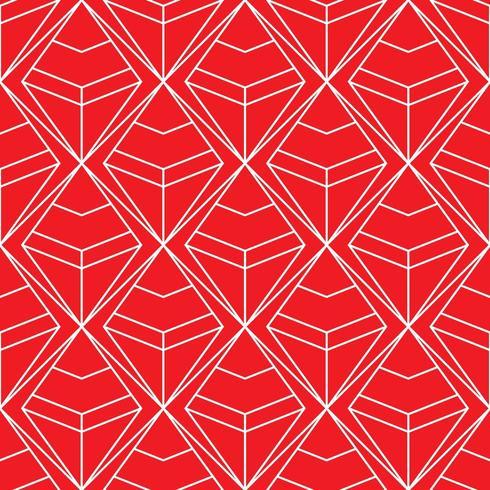 padrão geométrico de diamante vermelho e branco sem costura