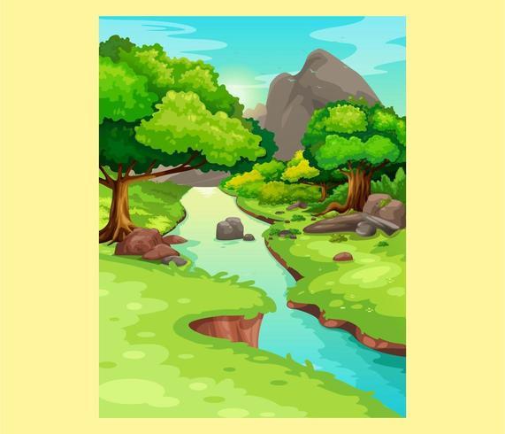 Prachtig bos en rivier