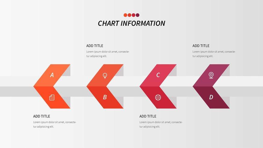Vecteur d'information logique en quatre étapes