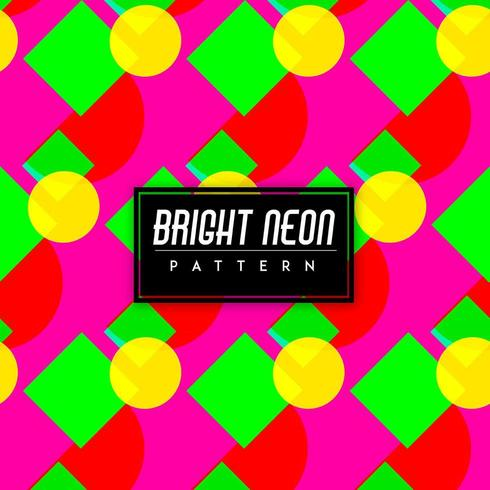 Bright Neon Colorful Shapes Seamless Pattern