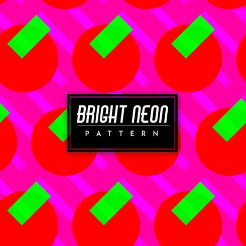 Formas coloridas de néon brilhante
