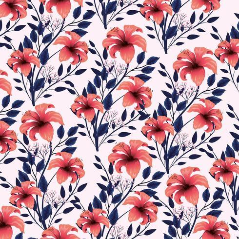 exotische Blumenanlagen mit Schönheit verlässt Hintergrund