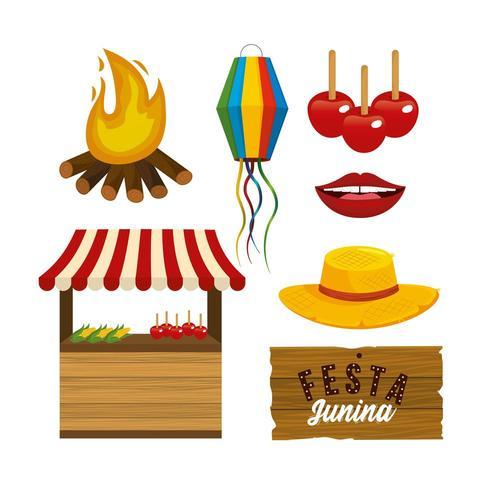definir acessórios de festa junini decoração para festa