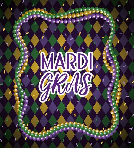 mardi gras necklace balls to event vector